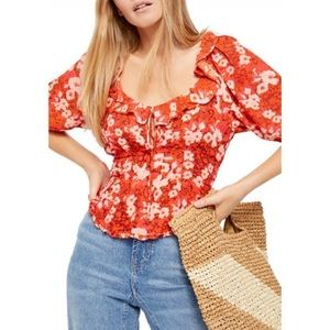 Free People | Romantic Floral Blouse